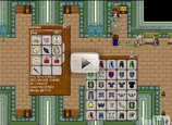 A screenshot of Stendhal in Semos Bank with a bank chest window open showing lots if items. In the middle of the screenshow a semitransparent play-icon is painted, indicating this image links to a video.